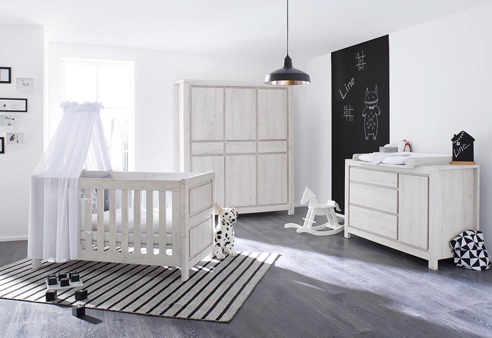 pinolino line babyzimmer grau 3-teilig | möbel letz - ihr online-shop