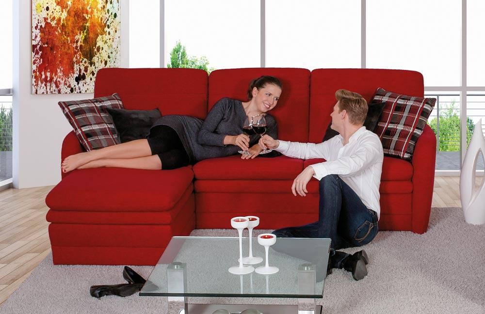 pm oelsa bastei eckgarnitur in rot m bel letz ihr. Black Bedroom Furniture Sets. Home Design Ideas