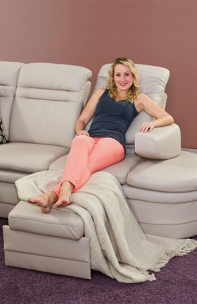 pm oelsa gomera ledersofa in creme m bel letz ihr online shop. Black Bedroom Furniture Sets. Home Design Ideas