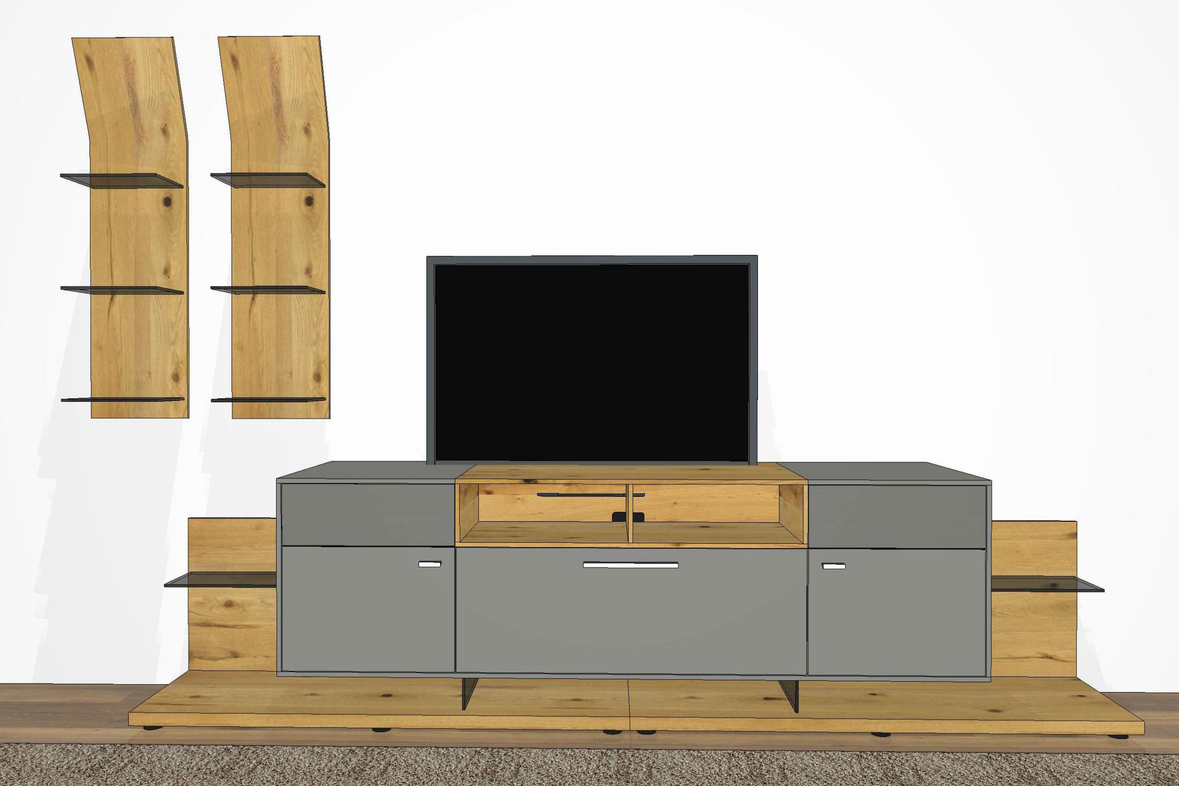 wohnwand media concept mc901 von gwinner m bel letz. Black Bedroom Furniture Sets. Home Design Ideas