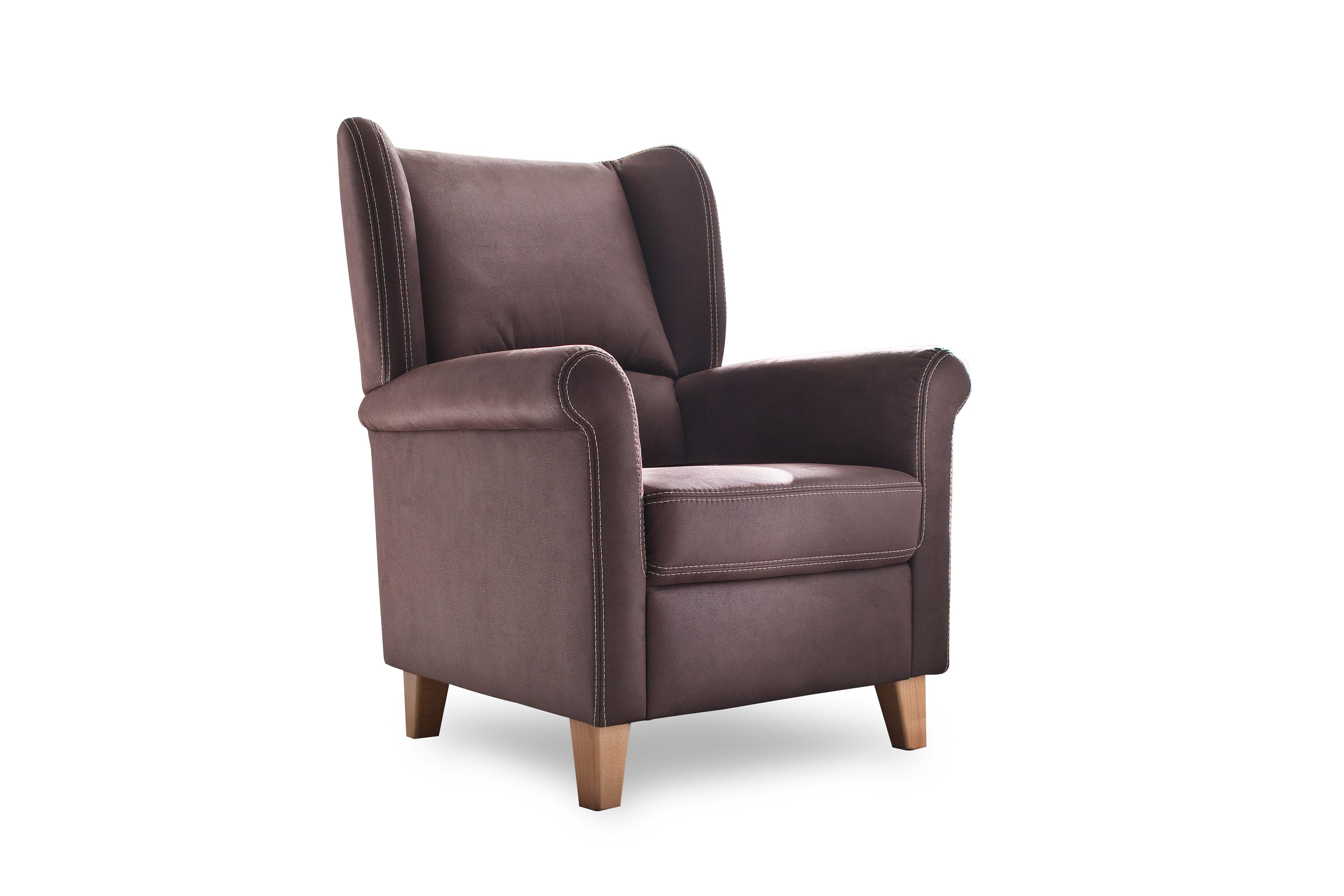 carina polsterm bel malte einzelsessel in braun m bel letz ihr online shop. Black Bedroom Furniture Sets. Home Design Ideas