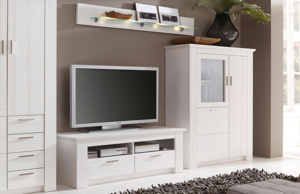 wei e wohnwand deko raum und m beldesign inspiration. Black Bedroom Furniture Sets. Home Design Ideas