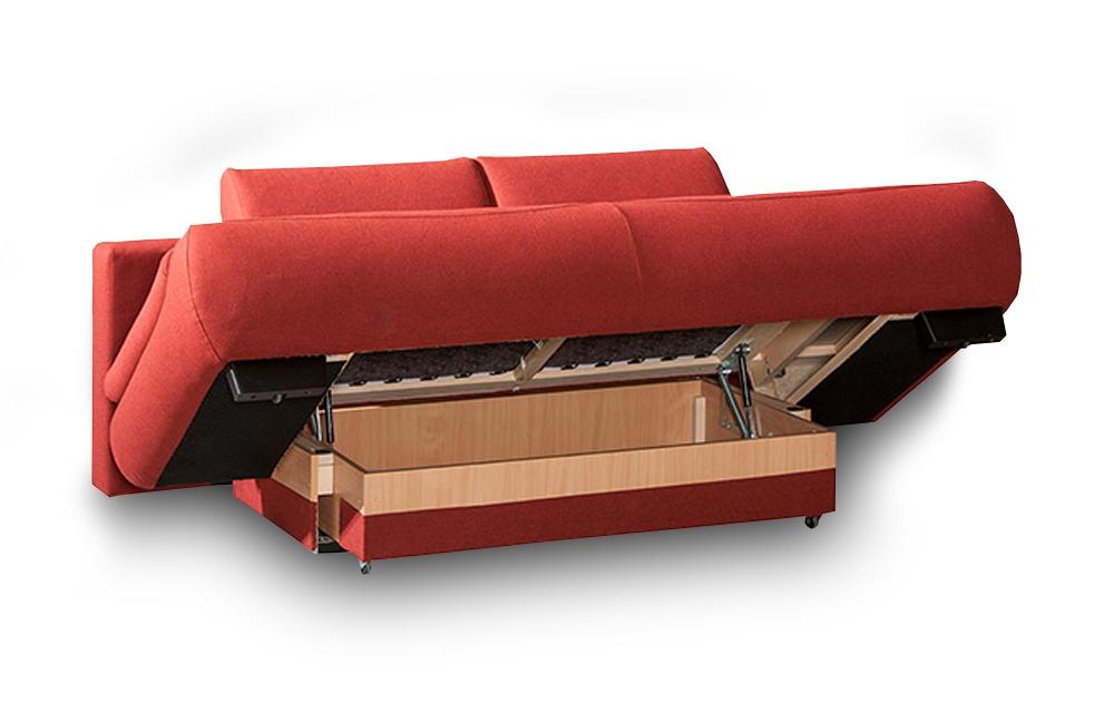 restyl alissa schlafsofa in rot mit bettkasten und armteilverstellung m bel letz ihr online shop. Black Bedroom Furniture Sets. Home Design Ideas