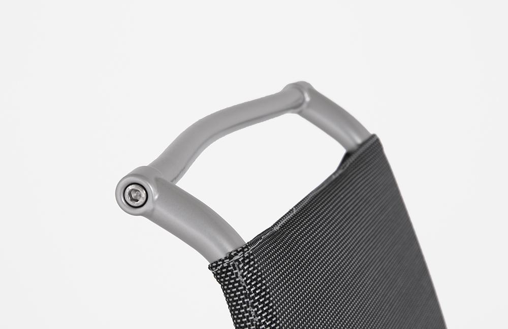 Stuhl air high net steel metall satiniert von calligaris for Calligaris air high