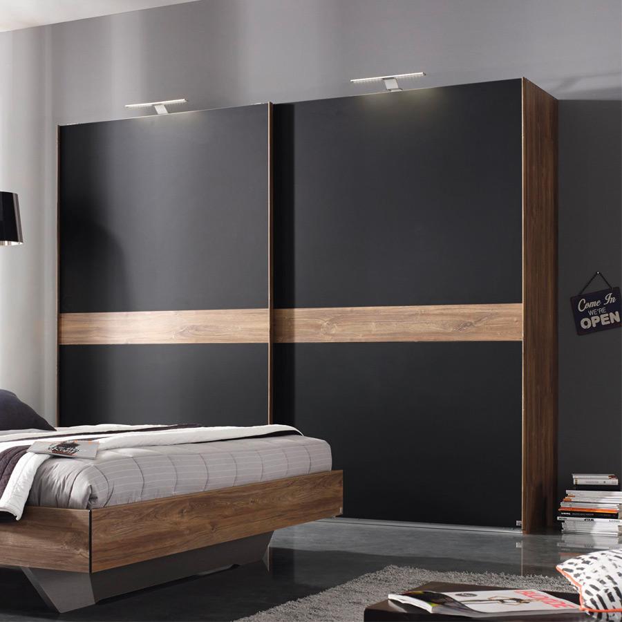 rauch calgary schlafzimmer eiche schwarz m bel letz ihr online shop. Black Bedroom Furniture Sets. Home Design Ideas