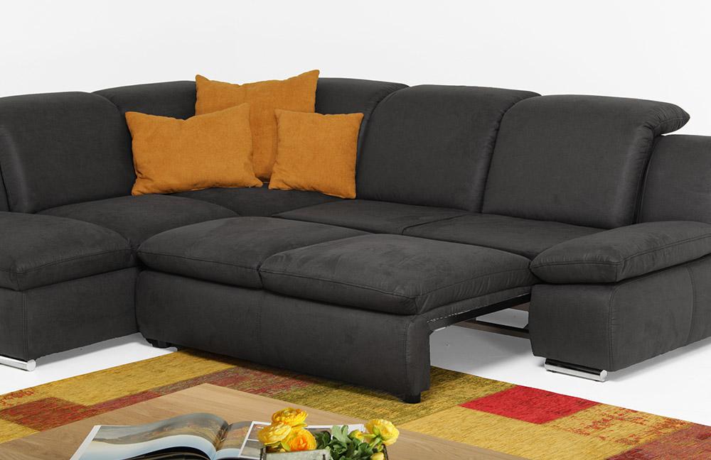 poco z rich eckgarnitur in anthrazit m bel letz ihr. Black Bedroom Furniture Sets. Home Design Ideas