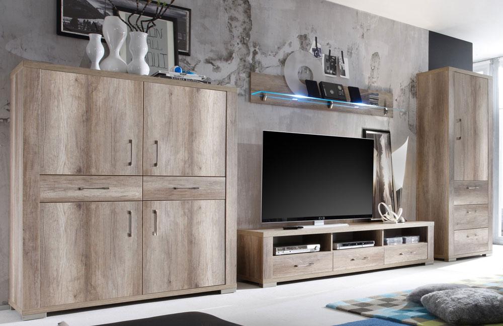 wohnwand matti v1 wildeiche tr ffel von m usbacher m bel letz ihr online shop. Black Bedroom Furniture Sets. Home Design Ideas