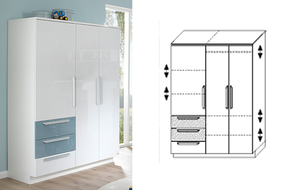 wellem bel milla babyzimmer wei pacific blau m bel letz. Black Bedroom Furniture Sets. Home Design Ideas