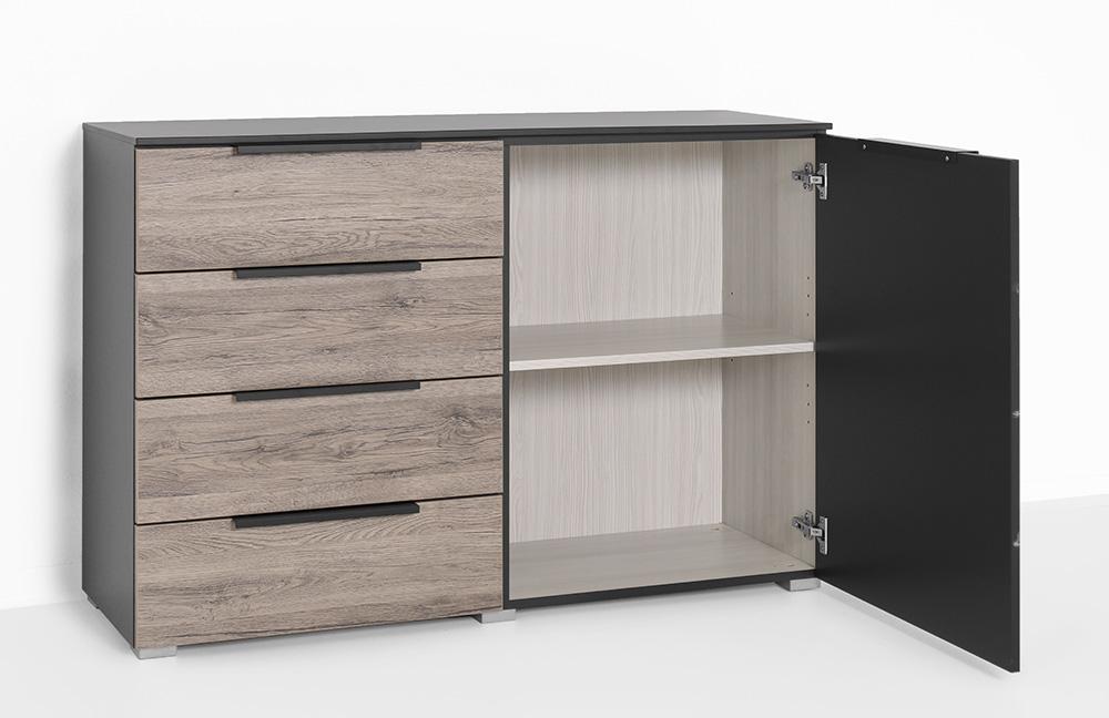 rauch vadora kommode schwarz eiche m bel letz ihr online shop. Black Bedroom Furniture Sets. Home Design Ideas