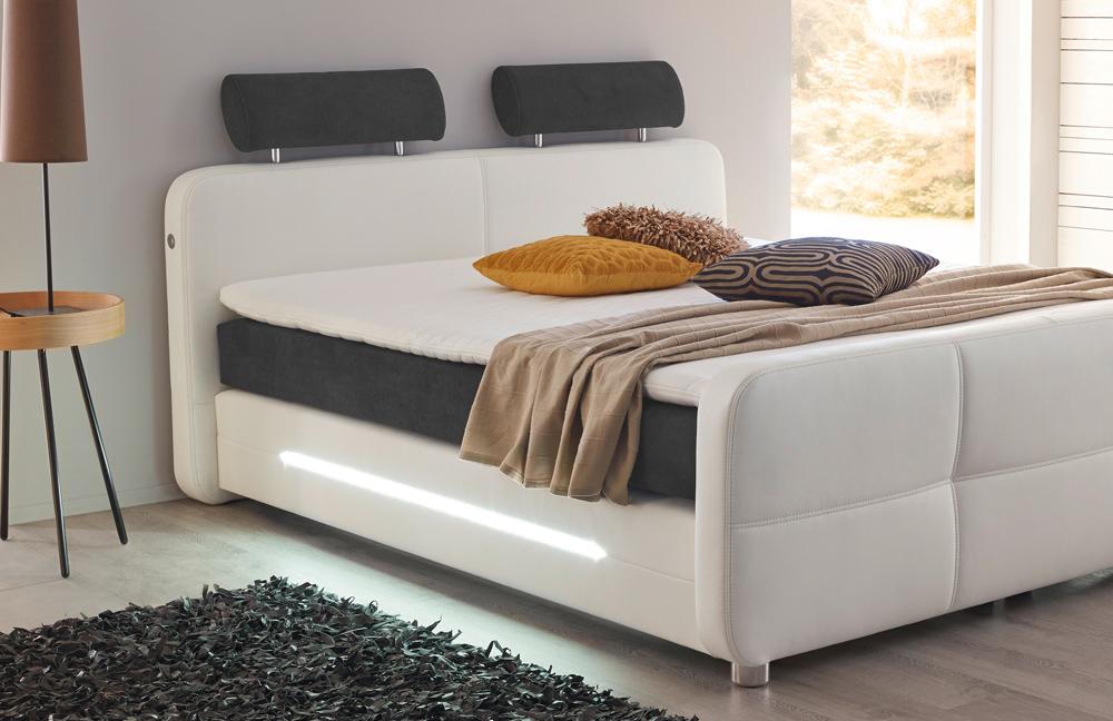 jockenh fer gina boxspringbett in wei mit beleuchtung m bel letz ihr online shop. Black Bedroom Furniture Sets. Home Design Ideas