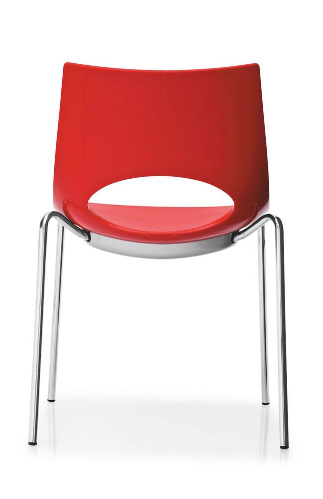 stuhl congress rot stapelbar von calligaris m bel letz ihr online shop. Black Bedroom Furniture Sets. Home Design Ideas
