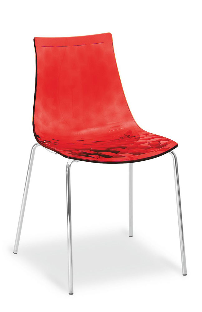stuhl ice verchromt rot von calligaris m bel letz ihr. Black Bedroom Furniture Sets. Home Design Ideas
