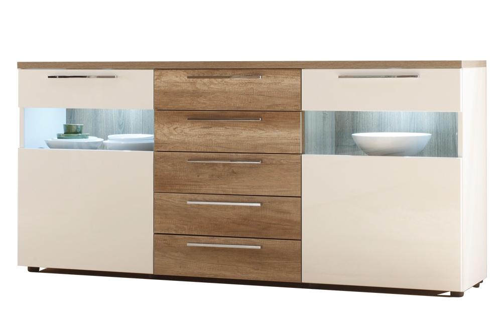 sideboard cosmos wei sonoma eiche tr ffel von ims living m bel letz ihr online shop. Black Bedroom Furniture Sets. Home Design Ideas