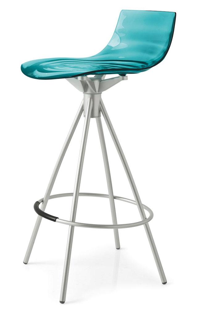 barhocker l 39 eau metall satiniert wassergr n von. Black Bedroom Furniture Sets. Home Design Ideas