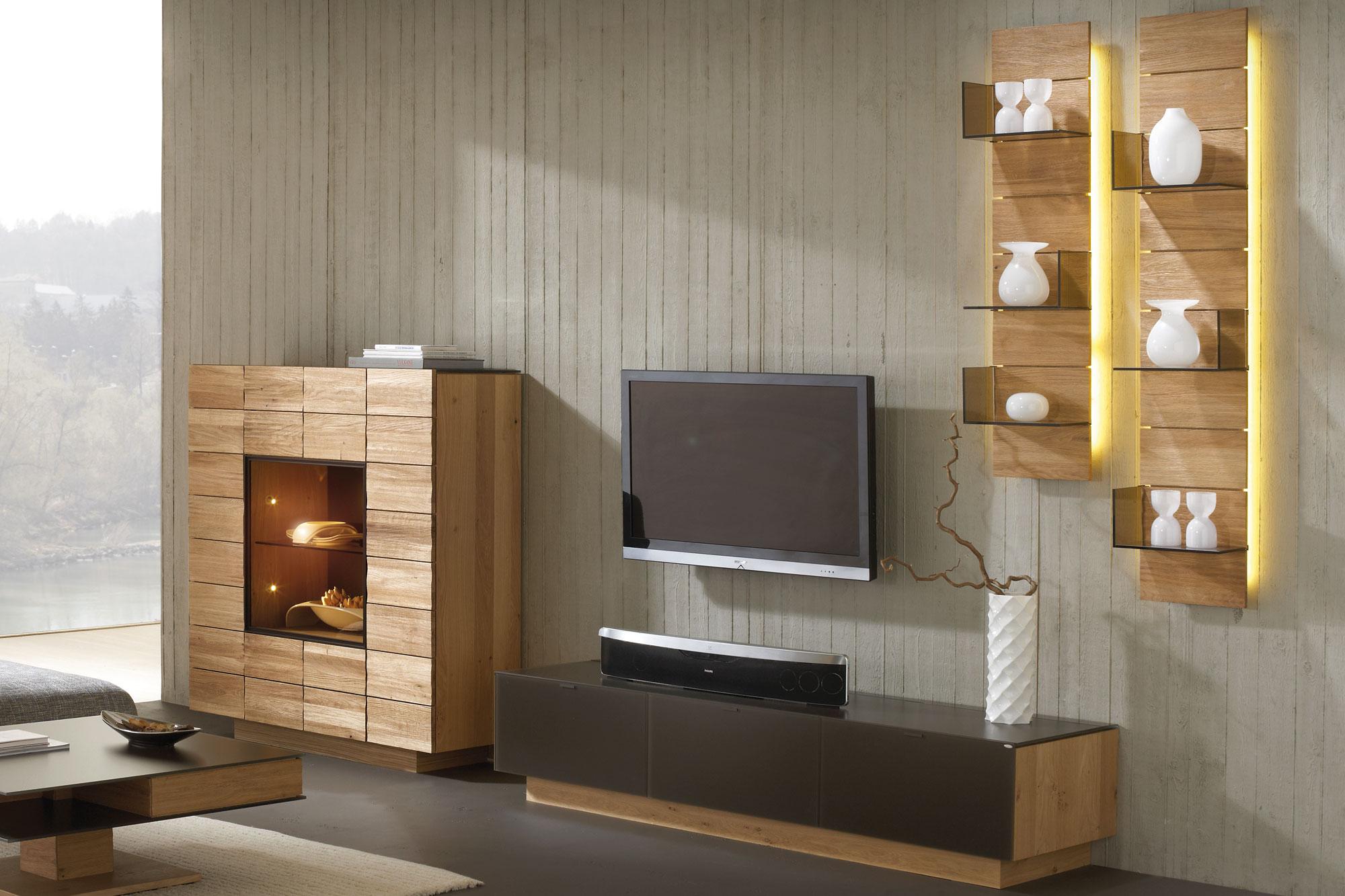 wohnwand v montana 285 braun wildeiche von voglauer m bel letz ihr online shop. Black Bedroom Furniture Sets. Home Design Ideas