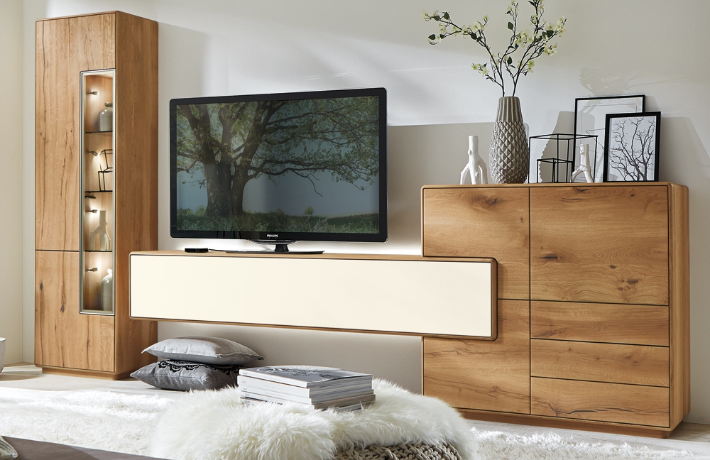 wohnwand sineo 0006 wild bohleneiche massiv von w stmann markenm bel m bel letz ihr online. Black Bedroom Furniture Sets. Home Design Ideas