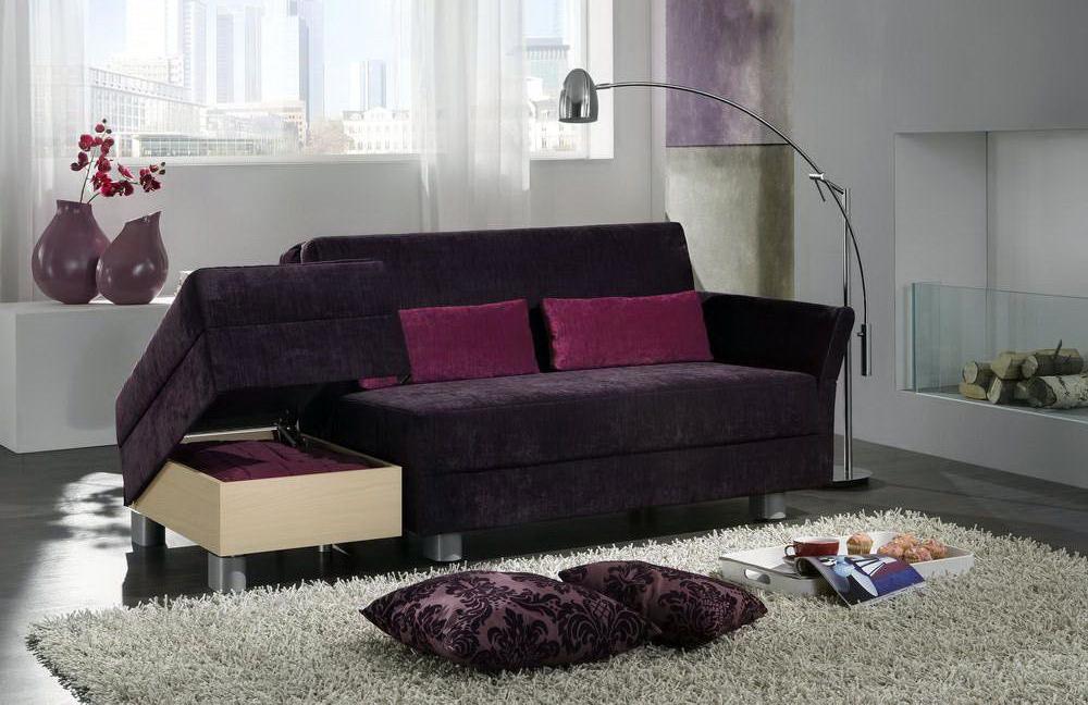 schlafsofa solino lila von nehln wohnideen m bel letz. Black Bedroom Furniture Sets. Home Design Ideas