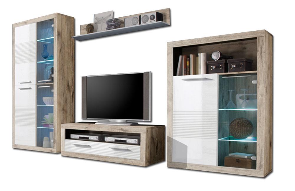 wohnwand kolibri katherina 89 925 d9 von hbz meble. Black Bedroom Furniture Sets. Home Design Ideas
