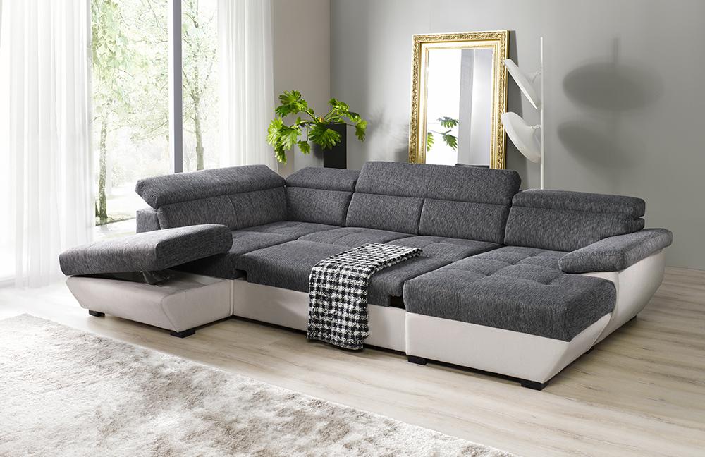 cotta speedway wohnlandschaft grau wei m bel letz ihr online shop. Black Bedroom Furniture Sets. Home Design Ideas