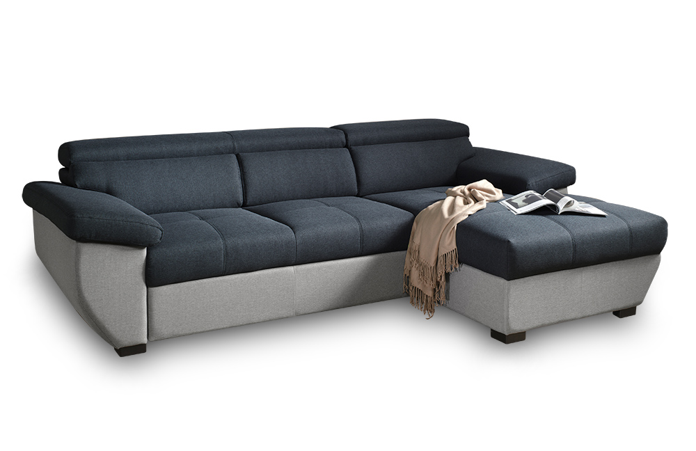 cotta speedway ecksofa schwarz grau m bel letz ihr online shop. Black Bedroom Furniture Sets. Home Design Ideas