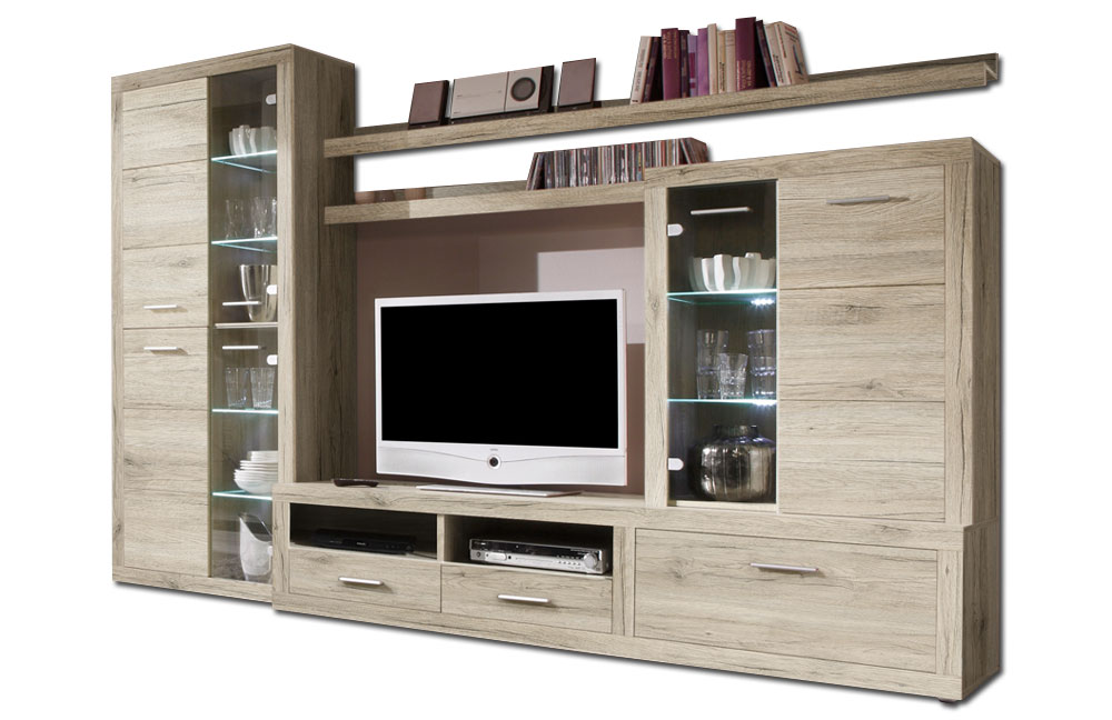 wohnwand can can 5 lisetta 89 532 a4 von hbz meble m bel letz ihr online shop. Black Bedroom Furniture Sets. Home Design Ideas