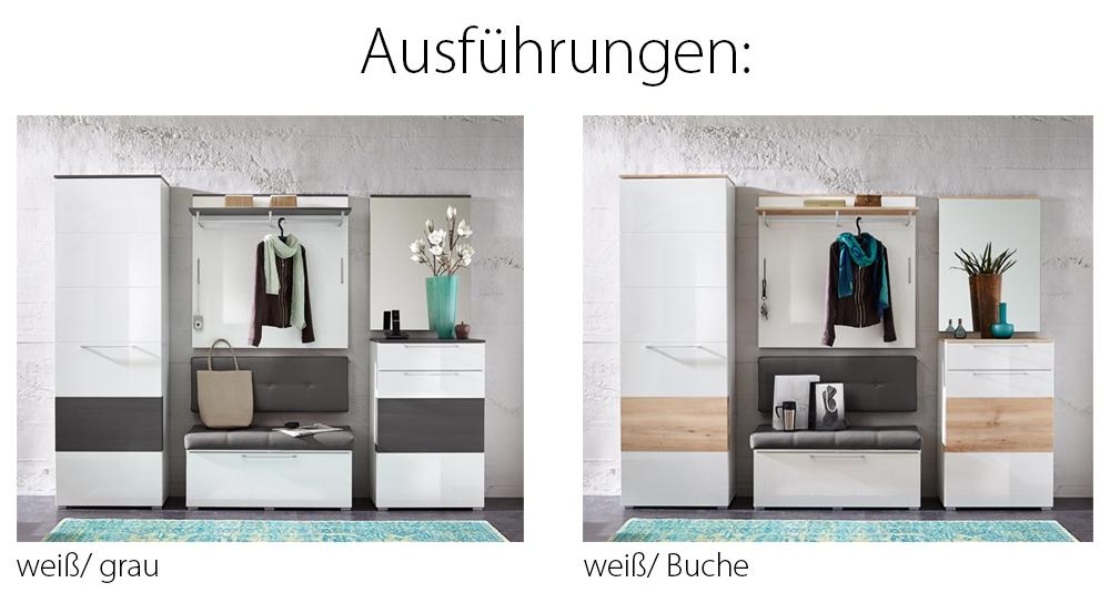 garderobe reno wei grau von innostyle m bel letz ihr online shop. Black Bedroom Furniture Sets. Home Design Ideas