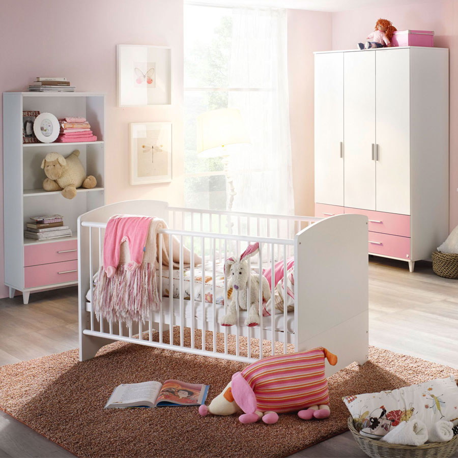 rauch aik extra babyzimmer wei rosa m bel letz ihr online shop. Black Bedroom Furniture Sets. Home Design Ideas