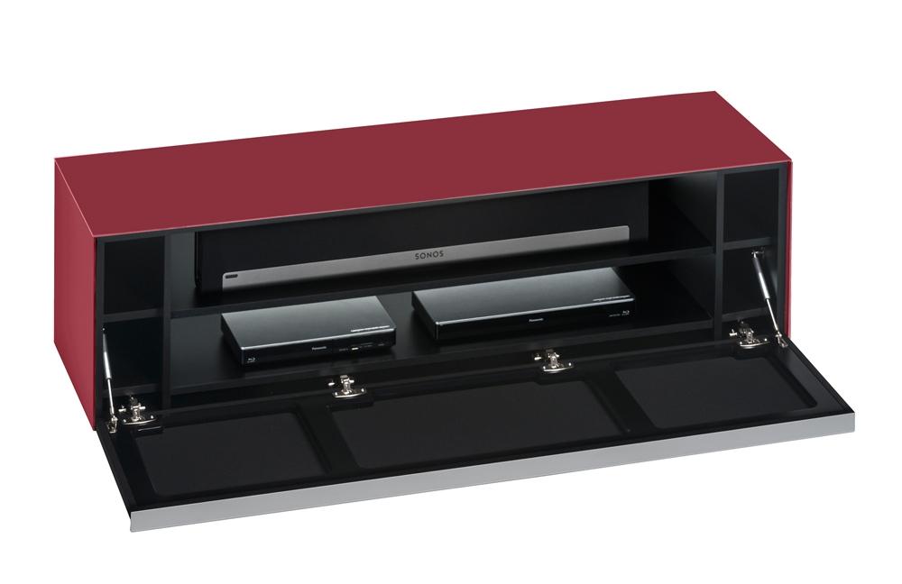 lowboard soundconcept glass rot schwarz von maja m bel m bel letz ihr online shop. Black Bedroom Furniture Sets. Home Design Ideas