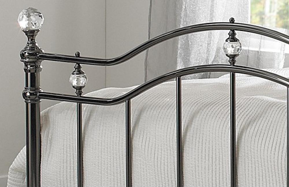r sistub kristall metallbett braun nickel m bel letz ihr online shop. Black Bedroom Furniture Sets. Home Design Ideas