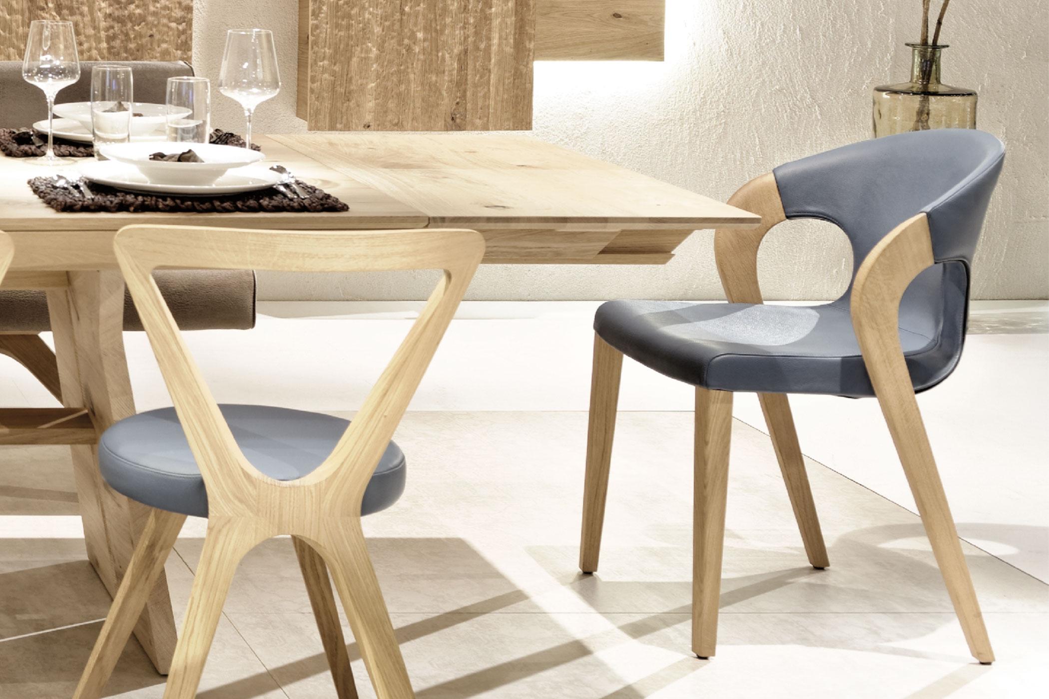 esszimmer v organo living v1 wildeiche leder von voglauer m bel letz ihr online shop. Black Bedroom Furniture Sets. Home Design Ideas