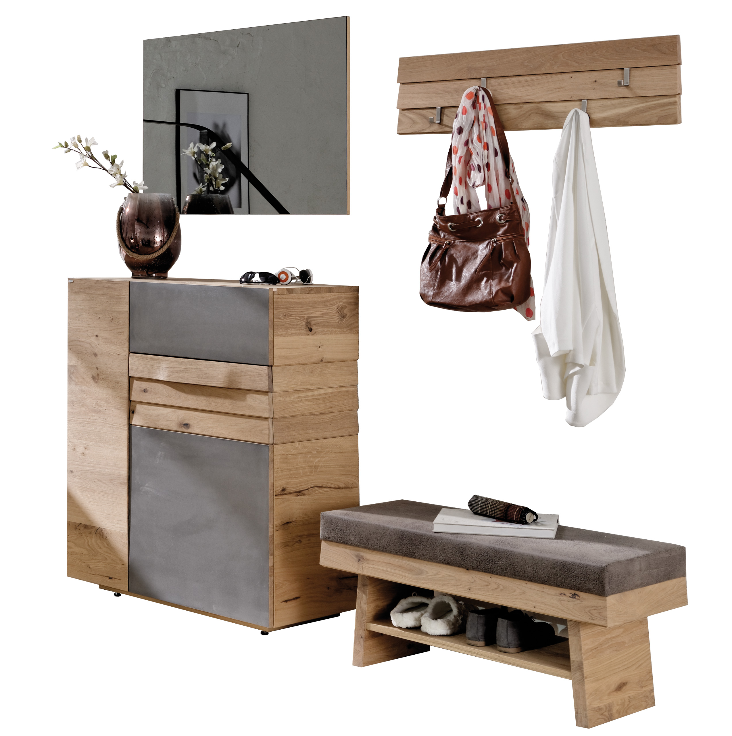 voglauer garderobe v organo wildeiche eisen m bel letz ihr online shop. Black Bedroom Furniture Sets. Home Design Ideas