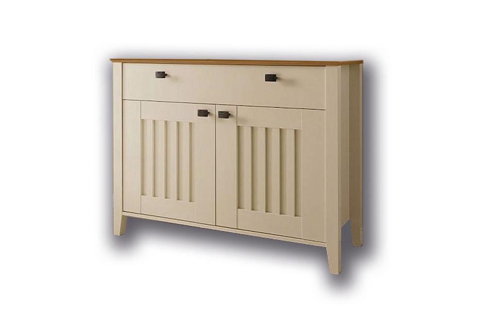 kommode sideboard pavos korpus in wei matt front in creme hochglanz smash. Black Bedroom Furniture Sets. Home Design Ideas
