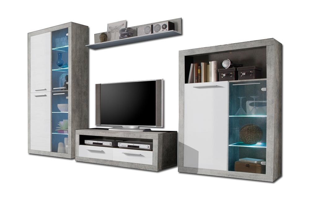 hbz meble wohnwand stone myrina 89 671 d5 m bel letz ihr online shop. Black Bedroom Furniture Sets. Home Design Ideas