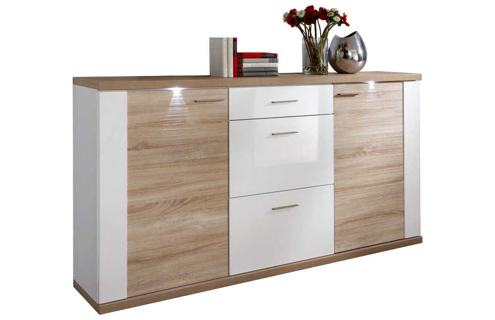 ideal m bel sideboard manhattan eiche wei m bel letz. Black Bedroom Furniture Sets. Home Design Ideas