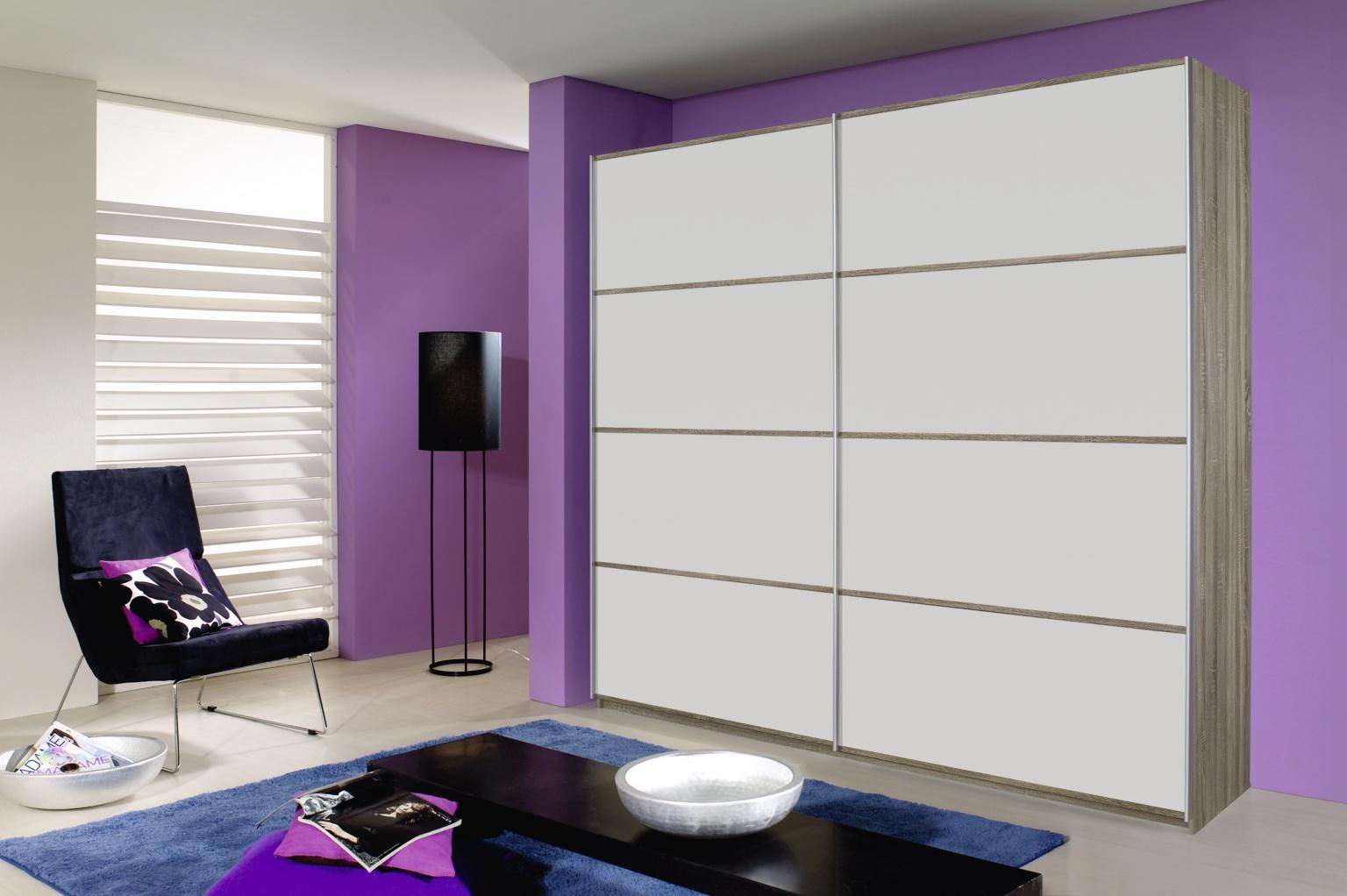 rauch quadra kleiderschrank alu schwarz m bel letz ihr. Black Bedroom Furniture Sets. Home Design Ideas
