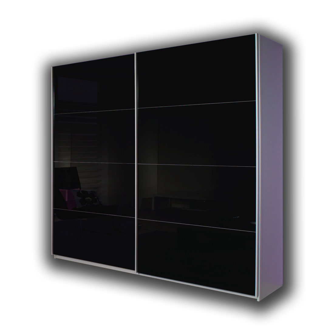 rauch quadra kleiderschrank alu schwarz m bel letz ihr online shop. Black Bedroom Furniture Sets. Home Design Ideas