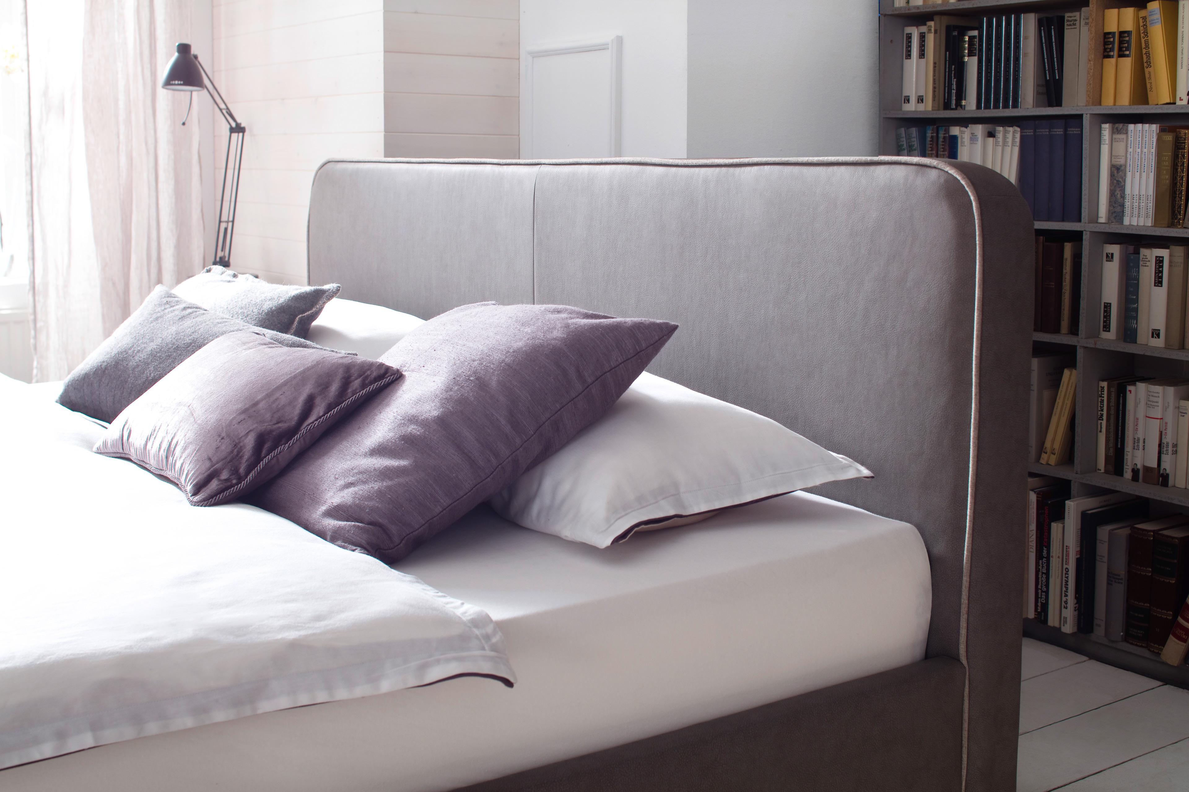 meise polsterbett terreno in kunstleder taupe mit. Black Bedroom Furniture Sets. Home Design Ideas