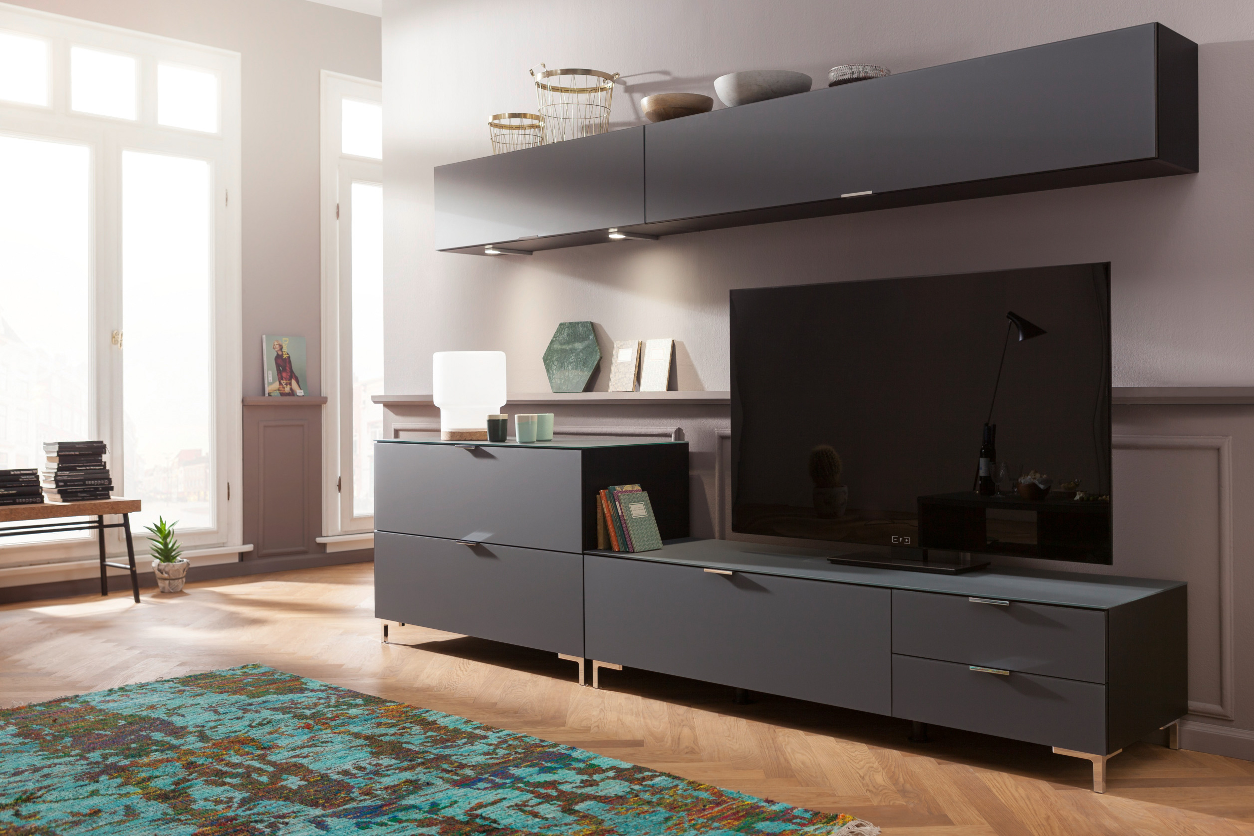 wohnwand cleo bestseller shop f r m bel und einrichtungen. Black Bedroom Furniture Sets. Home Design Ideas