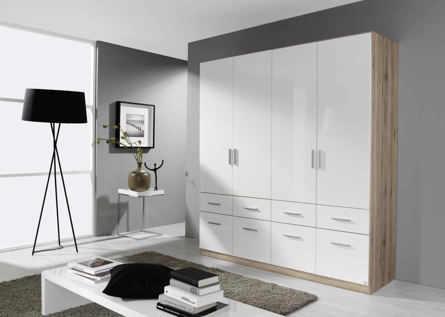 rauch celle schrank eiche sanremo wei m bel letz. Black Bedroom Furniture Sets. Home Design Ideas