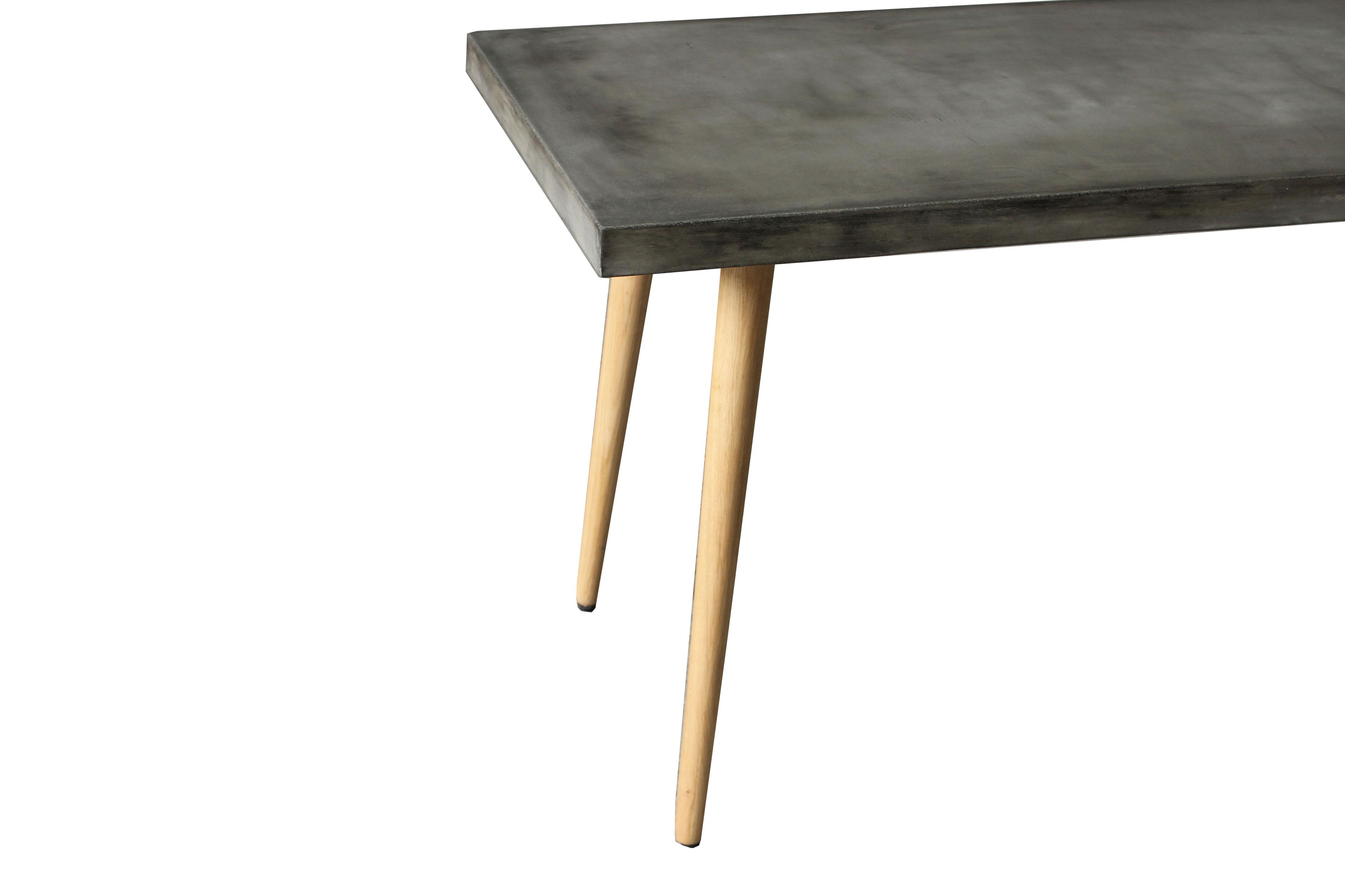 esstisch cement mit eichenholzbeinen von sit möbel  möbel  ~ Esstisch Zement