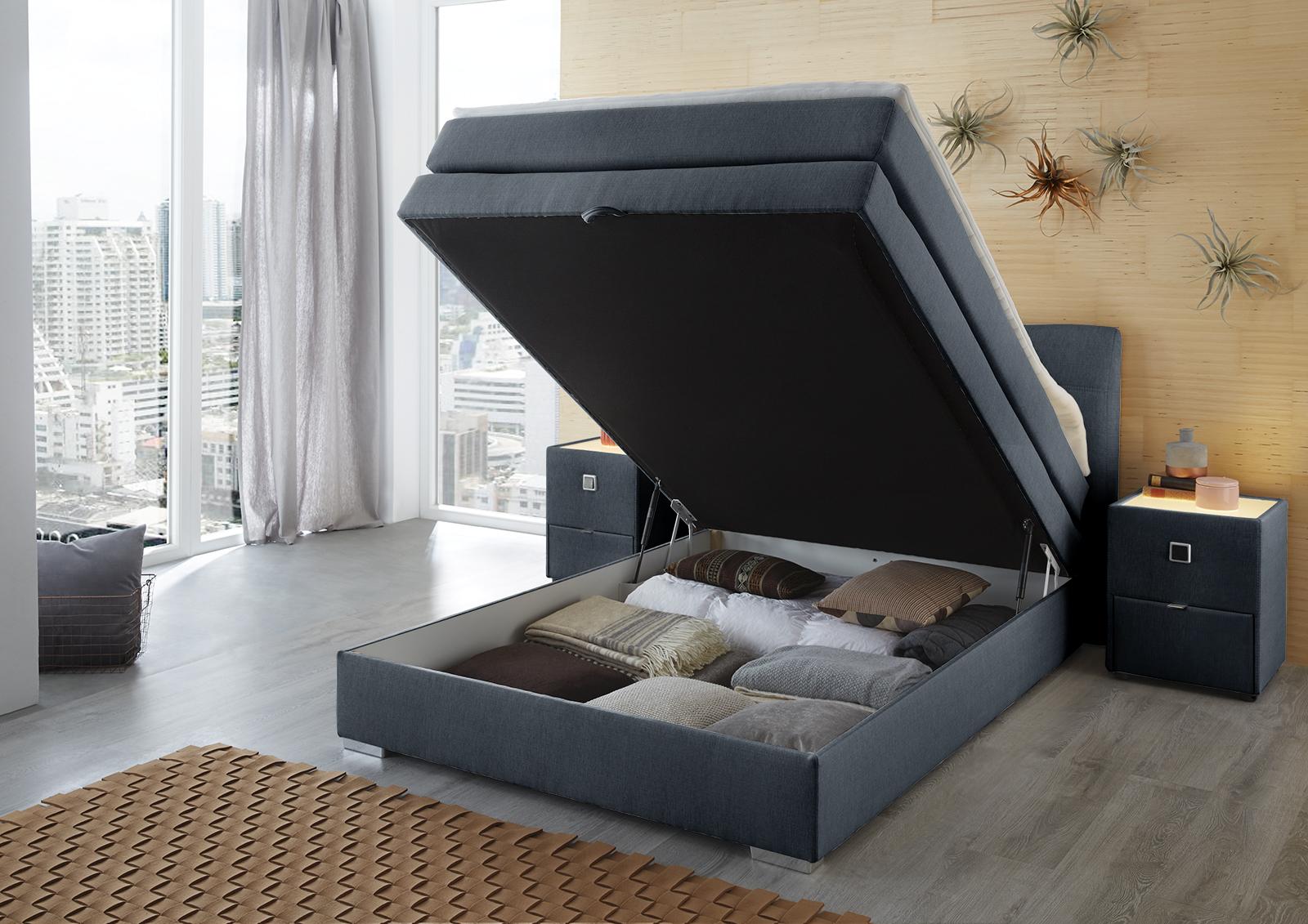 jockenh fer amelie boxspringbett mit liegefl che von ca 140 x 200 cm m bel letz ihr online shop. Black Bedroom Furniture Sets. Home Design Ideas