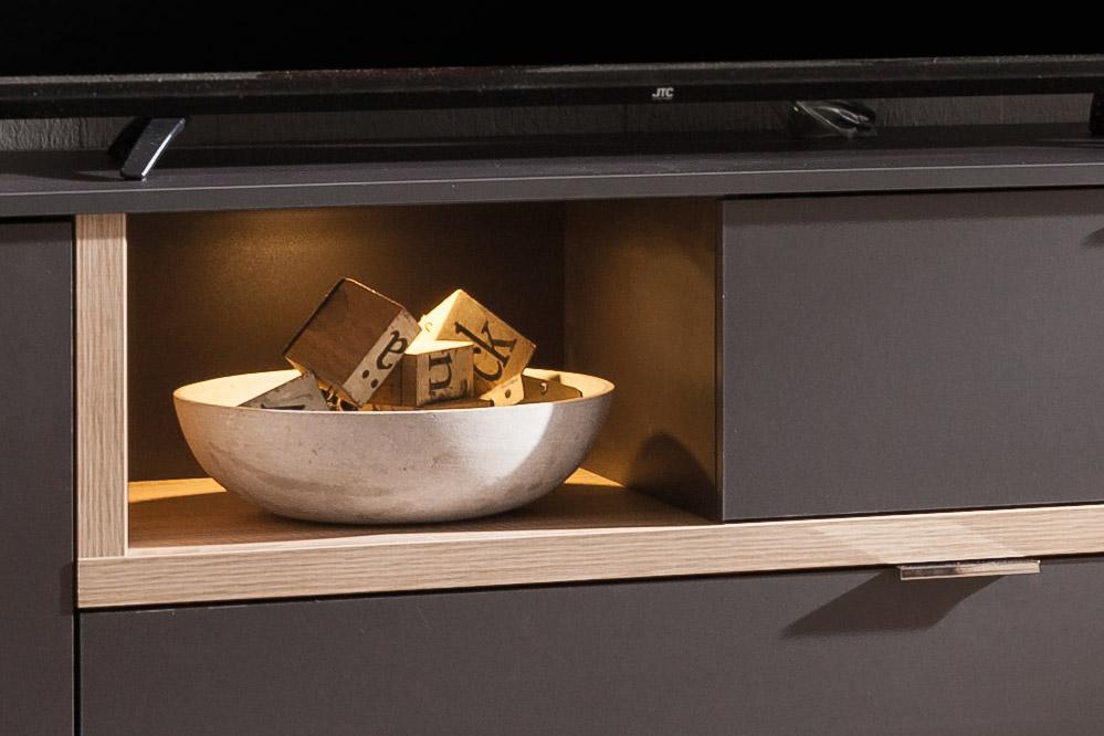 cs schmalm bel wohnwand my ell eiche graphit m bel letz ihr online shop. Black Bedroom Furniture Sets. Home Design Ideas