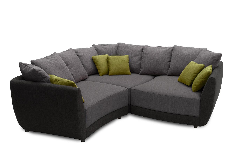new look cubo eckgarnitur in grau schwarz m bel letz ihr online shop. Black Bedroom Furniture Sets. Home Design Ideas