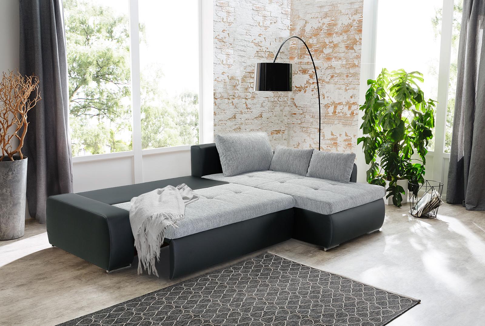 jockenh fer amberg ecksofa grau schwarz m bel letz ihr online shop. Black Bedroom Furniture Sets. Home Design Ideas