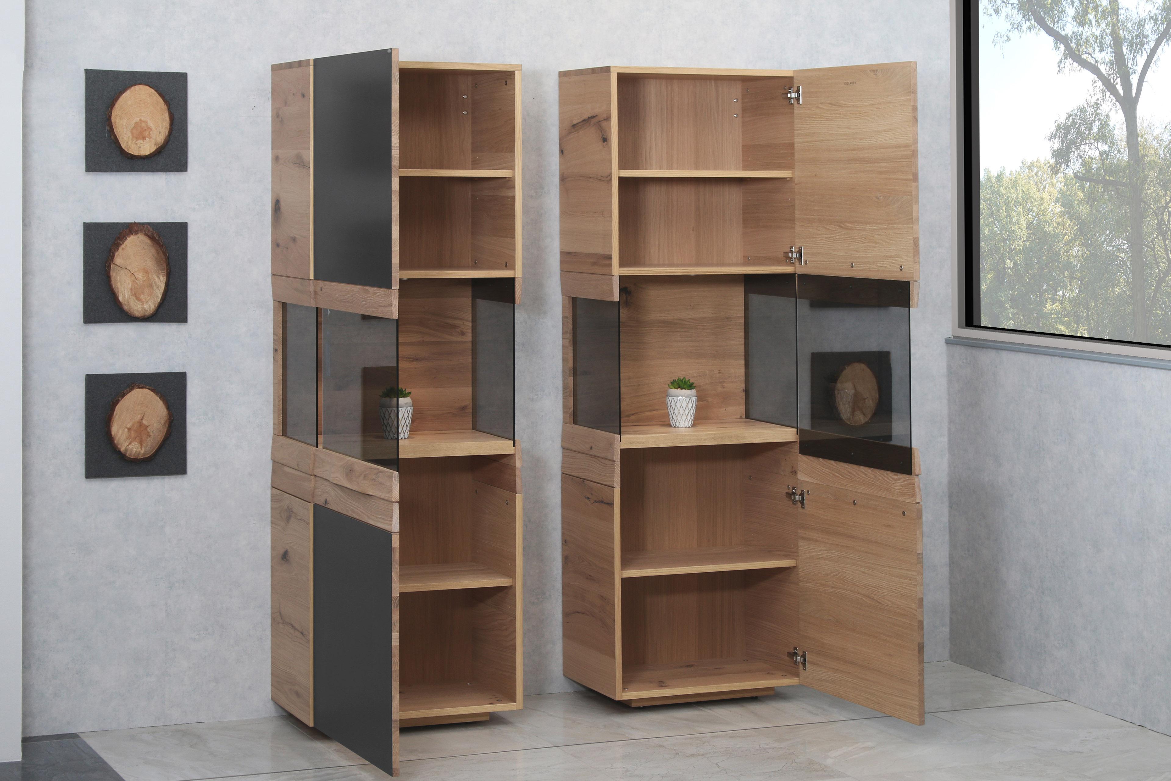 voglauer vitrinen v organo living wildeiche m bel letz ihr online shop. Black Bedroom Furniture Sets. Home Design Ideas