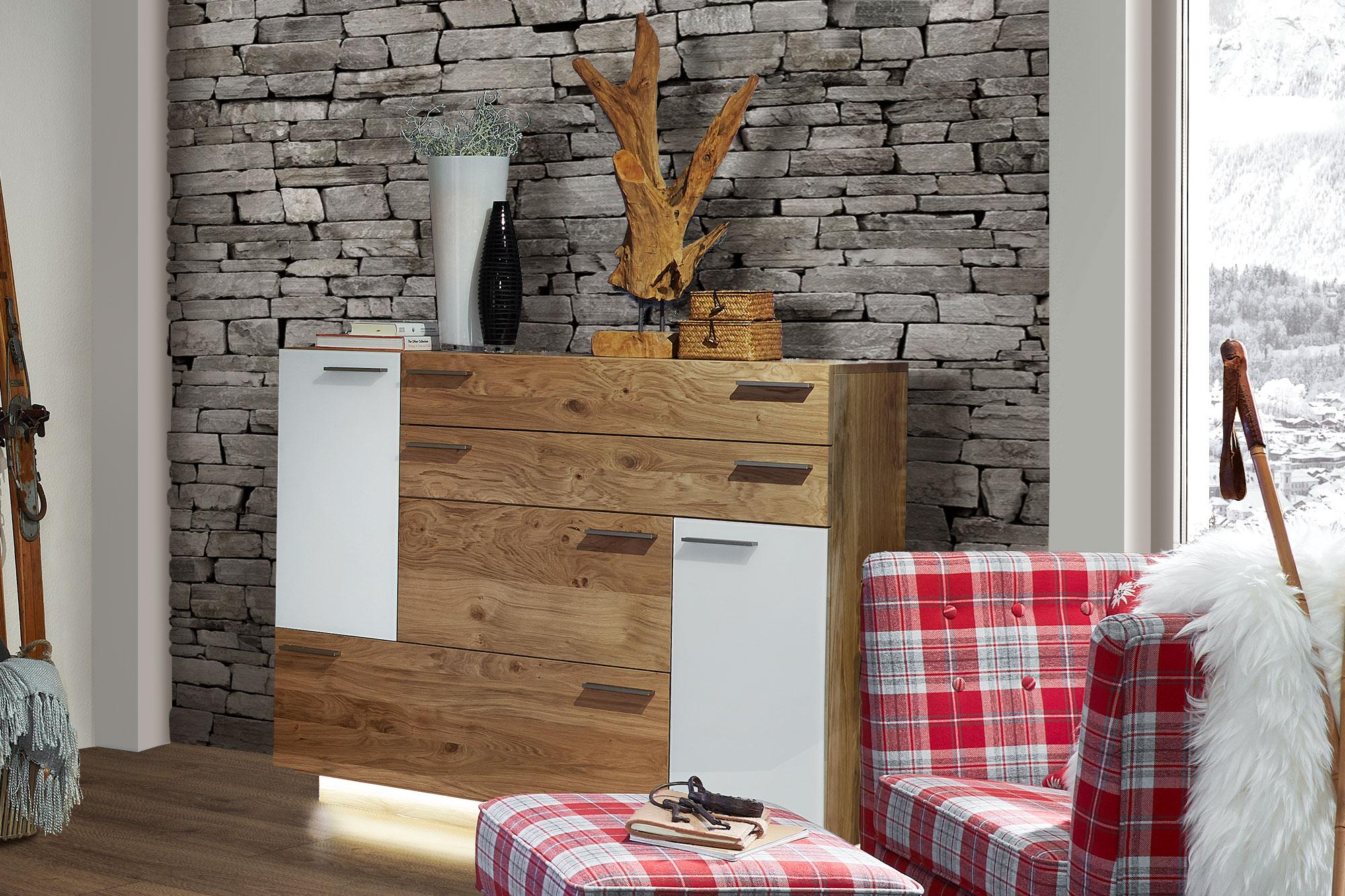 schr der wohnm bel wohnwand montana k003 kernasteiche snow m bel letz ihr online shop. Black Bedroom Furniture Sets. Home Design Ideas