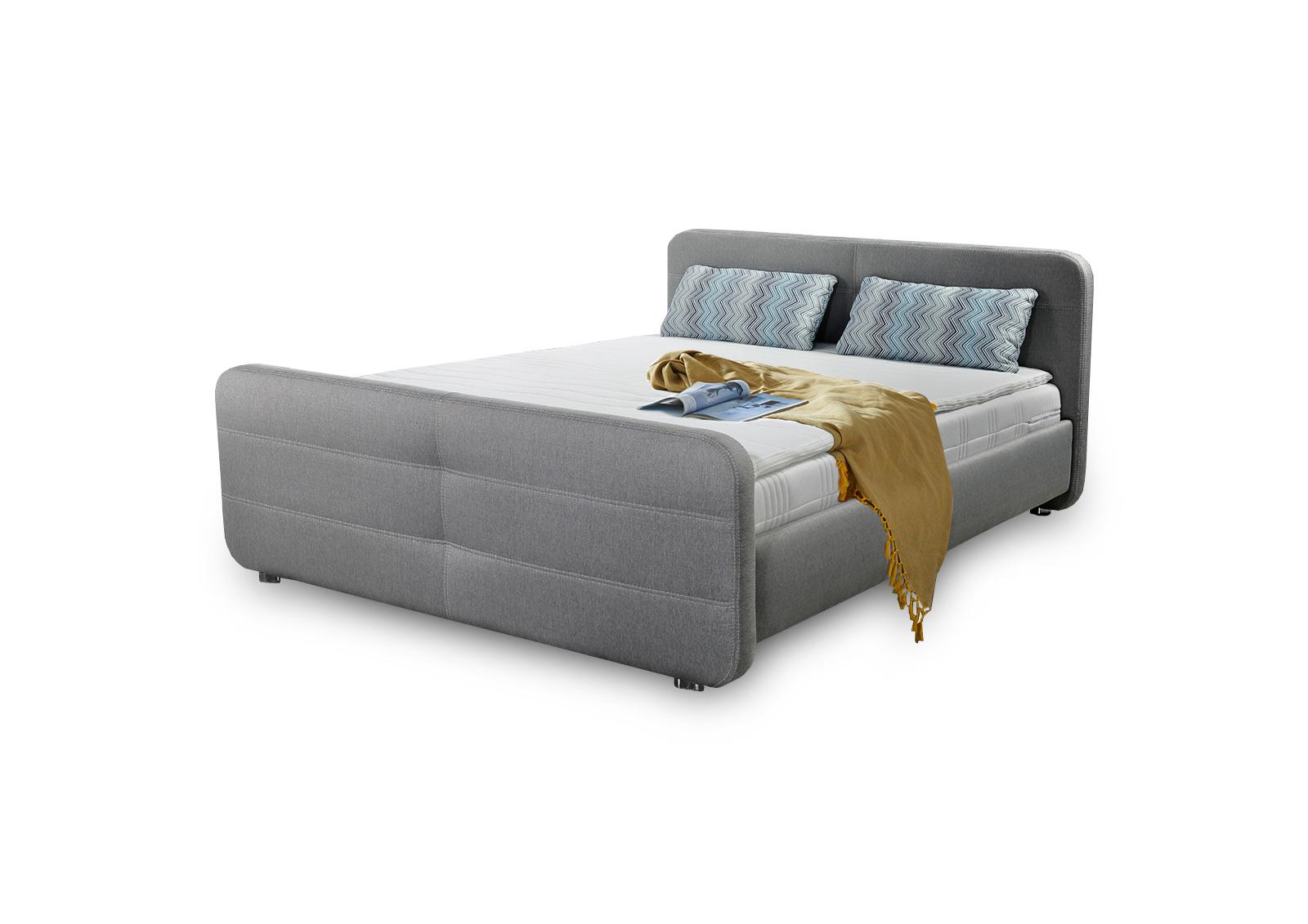 jockenh fer boxspringbett mira 140 x 200 cm in grau mit kopf und fu teil m bel letz ihr. Black Bedroom Furniture Sets. Home Design Ideas