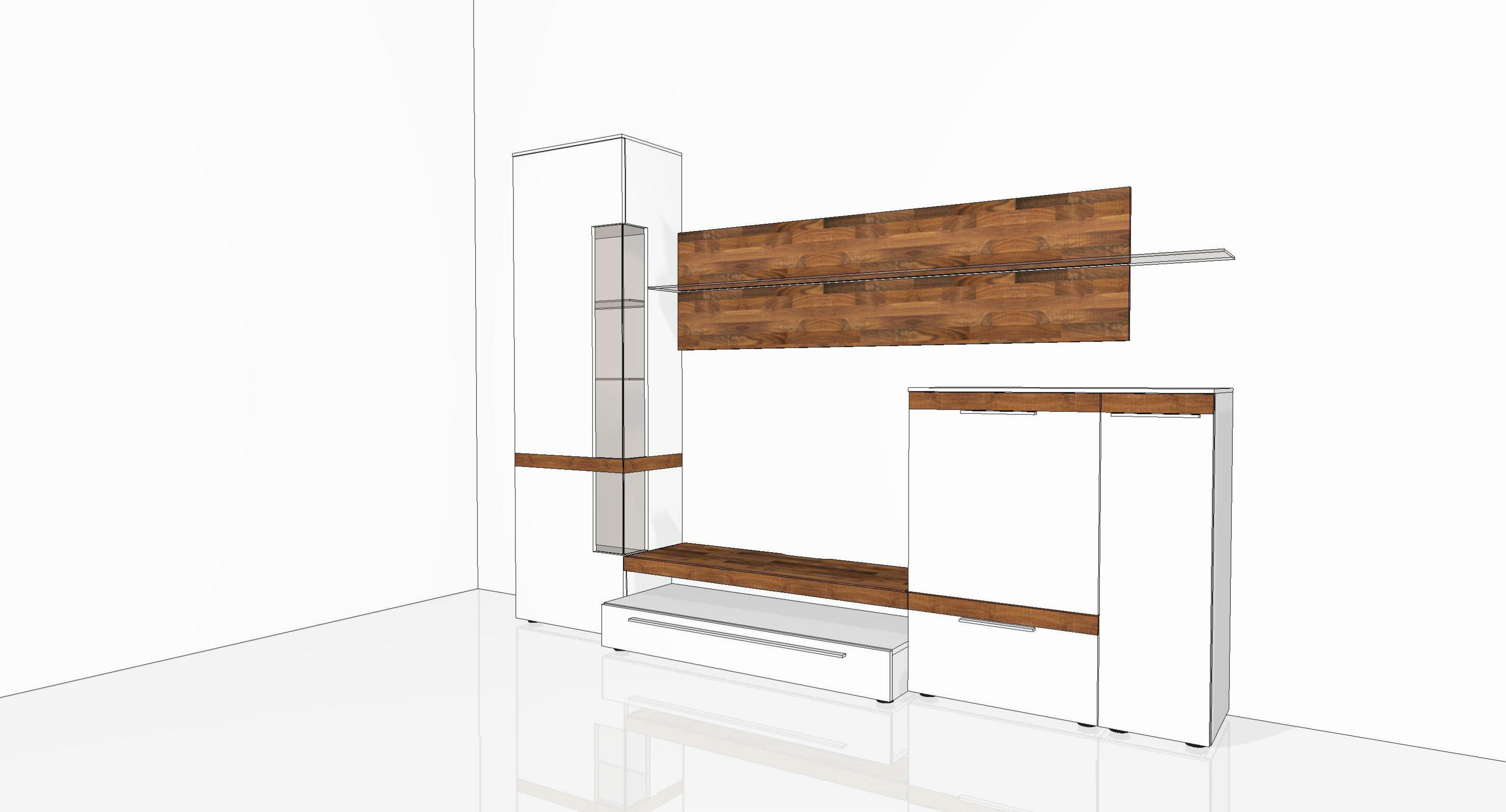 Gwinner Casale Beleuchtung : Wohnwand von Gwinner Wohndesign  Modell Casale Joy wei? seidenmatt