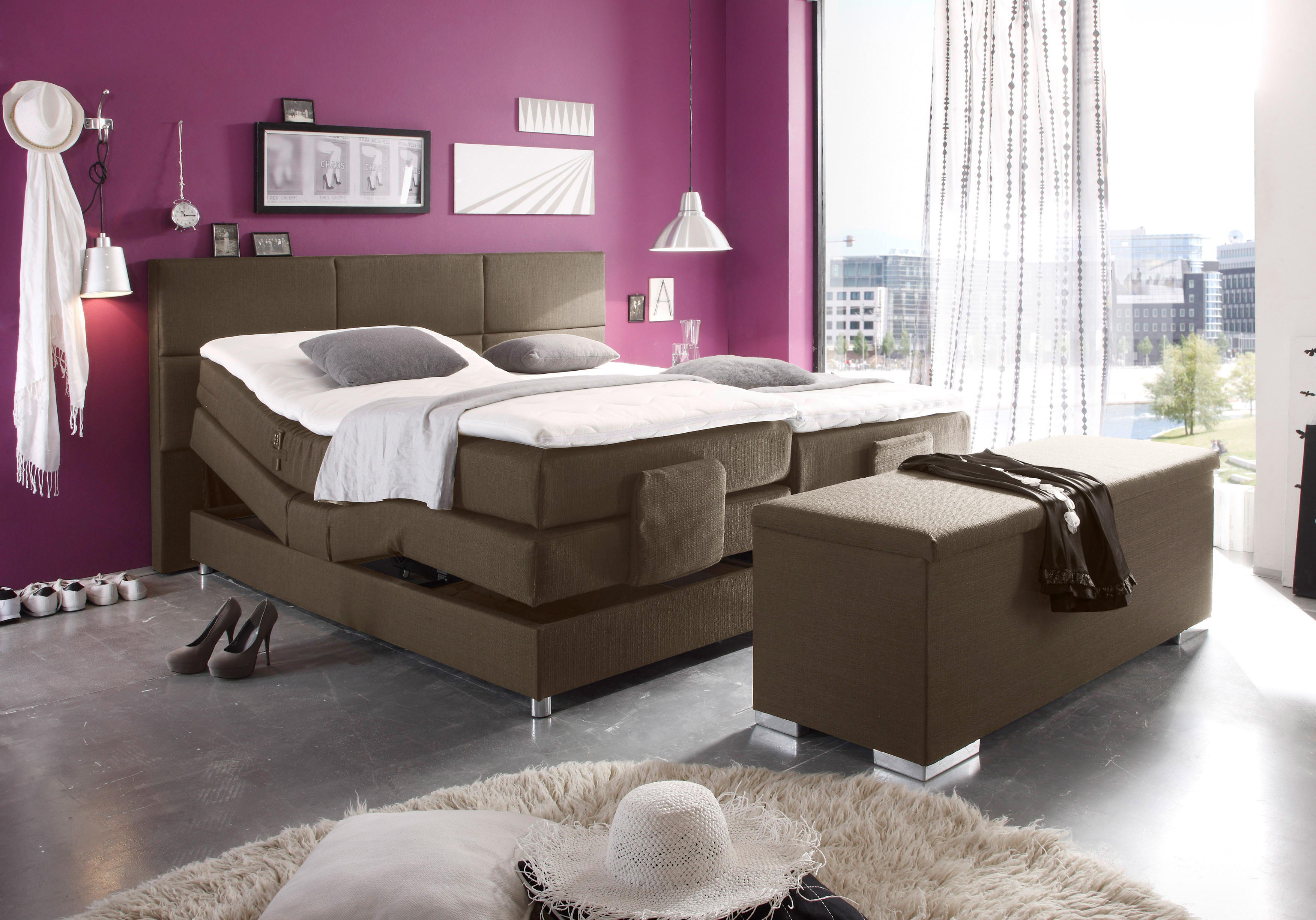 black red white boxspringbett chicago mit kopf und fu teilverstellung mit topper m bel letz. Black Bedroom Furniture Sets. Home Design Ideas
