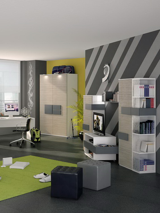 r hr bush hilight 323 jugendzimmer anthrazit m bel letz. Black Bedroom Furniture Sets. Home Design Ideas